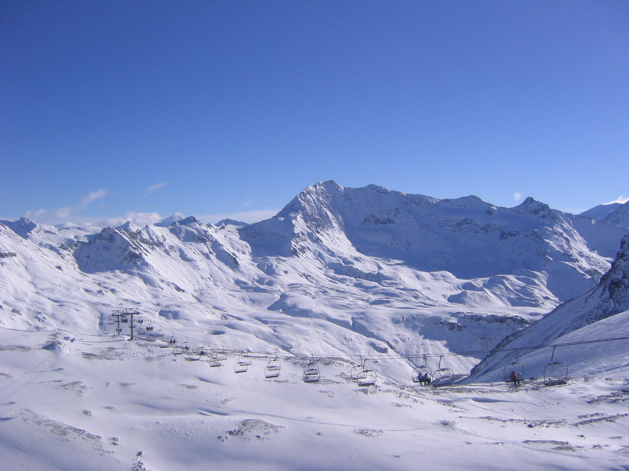 Faire du ski en été à Tignes